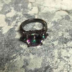 Black Gold Mystic Topaz Ring Size 5 - Mercari: Anyone can buy & sell