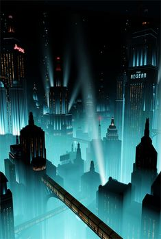 Rapture // Screenshot by digitalfrontiers on Tumblr Bioshock 2, Bioshock Infinite, Bioshock Artwork, Bioshock Rapture, Art Deco Artwork, Cool Backgrounds Wallpapers, Wayne Manor, Underwater City, Dream Painting