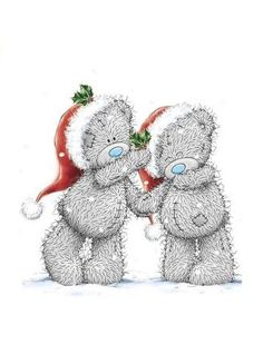 Merry Christmas ♡ Tatty Teddy tjn Teddy Bear Images, Teddy Bear Pictures, Easy Drawings Sketches, Blue Nose Friends, Bear Graphic, Christmas Teddy Bear, Christmas Cartoons, Christmas Accessories, Love Bear