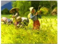 The Classic art of Fernando Amorsolo Biography of Fernando Amorsolo Link: allinson gallery Painting from a video by Dr. Filipino Art, Filipino Culture, Value Painting, Philippine Art, India Ink, Artists Like, Female Art, Art Images, Philippines