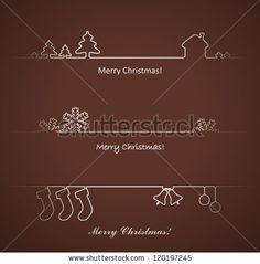 Set of vector design elements for Christmas cards decoration. by True-bunny, via Shutterstock