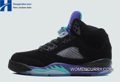 new arrivals 58dfa 20e24 New Air Jordan 5 Black New Emerald-Grape Ice-Black Best