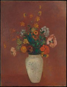 Odilon Redon (French, 1840–1916). Bouquet in a Chinese Vase, ca. 1912–14.The Metropolitan Museum of Art, New York. The Mr. and Mrs. Henry Ittleson Jr. Purchase Fund, 1964 (64.266) #spring