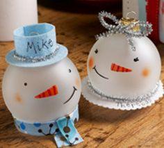 Snowman Glass Ornaments | FaveCrafts.com