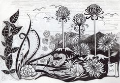 Beautiful original Fantasy pen and ink drawing.