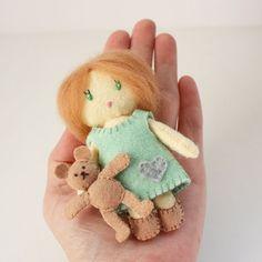 Little Mini Felt Dolls Matchbox Cuties PDF Digital by RobinMiyo