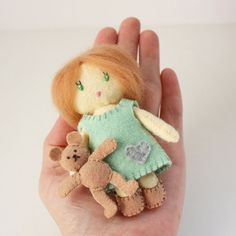 Little Mini Felt Dolls Matchbox Cuties  PDF Digital by RobinMiyo, $9.00