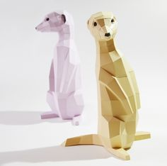 Deko-Objekte - Erdmännchen DIY-Bastelbogen - Viele Farben! - ein Designerstück von paperwolf bei DaWanda
