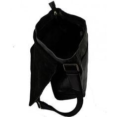 Arbejds taske i kalveskind fra Maanii by Adax i sort - 671560