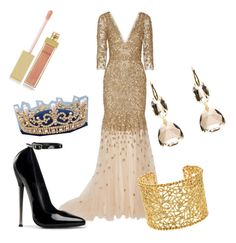 """""""Queen Catherine, Reign"""" by kenr5 ❤ liked on Polyvore featuring Marchesa, Brooks Brothers and AERIN"""