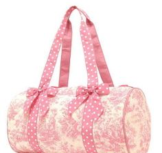 Preppy Toile Duffle Bags  Have pink and brown one! Need a new one!!