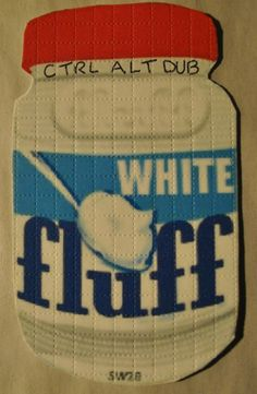 Jar of White Fluff Blotter Art signed by Ctrl Alt Dub