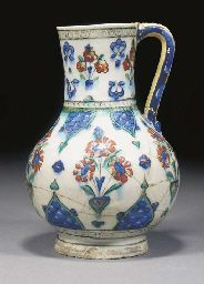 An Iznik pottery jug Late 16th century