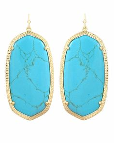Danielle Earrings in Turquoise - Kendra Scott Jewelry     I love them even more in silver, but they wouldn't let me pin that picture! :)