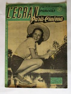 L'ecran Francais Paris Cinema Magazine 25 November 1947