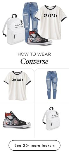 """""""Harley Shoes"""" by bleeding-babydoll on Polyvore featuring Converse and harleyquinn"""