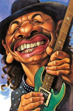 Caricaturas de musicos famosos santana