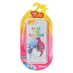 <P>Pass the glitter everyone! This silver phone case sparkles with silver glitter stars and flower sequins! Behind the glitter you can see our two favorite Trolls characters Poppy & Branch from the up and coming Dreamworks movie Trolls.</P><P><STRONG>Phone Case</STRONG> by <STRONG>Trolls</STRONG></P><UL><LI>Fits iPhone...