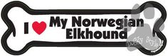 I Love My Norwegian Elkhound Dog Bone Magnet http://doggystylegifts.com/products/i-love-my-norwegian-elkhound-dog-bone-magnet