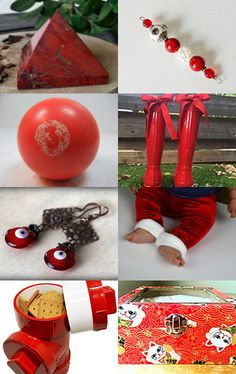 Red Christmas Gifts by terrie merritt on Etsy--Pinned with #etsyGifts #ssps  TreasuryPin.com