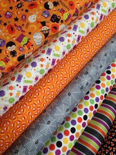 Halloween parade fabric bundle by Riley Blake Fabrics-Fat Quarter Bundle- 7 total on Etsy, $21.00