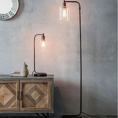 Update your home's look with our black industrial style's Scandi Floor Lamp. This minimalistic black floor lamp will bring a sophisticated look to your London home. Shop Now Tall Floor Lamps, Glass Floor Lamp, Tall Lamps, Floor Standing Lamps, Modern Floor Lamps, Bedroom Floor Lamps, Tall Living Room Lamps, Man's Bedroom, Free Standing Lamps