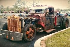 rat rod with tracks - Google Search