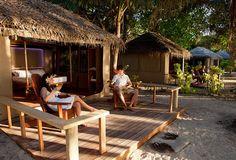 New safari-tent 'Superior Bures' at Barefoot Island Resort, Yasawa Islands - FIJI www.barefootislandfiji.com
