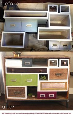 drawers diy shelving