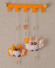 Owl Mobile/Wall hanging  pick your colour  felt von RazzleDazzle4U