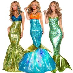 Pattern: Mermaid Fancy Dress Costumes Material: Polyester Color: As picture show Size: XS, S, M, L, XL, XXL and One Size