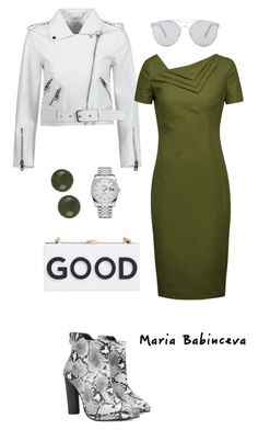 """Без названия #817"" by mariaalex-stylist ❤ liked on Polyvore featuring Milly, Gentle Monster, Rolex and Raoul"