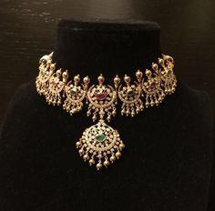 22 carat gold pretty designer diamond choker with gold beads. Closed setting diamond necklace from moksha diamonds. Diamond Choker, Gold Choker Necklace, Necklace Set, Dimond Necklace, Emerald Necklace, Diamond Pendant, Earrings, Trendy Jewelry, Fashion Jewelry