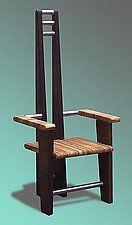 """Steel Orient by Paul Nicolas (Wood & Steel Chair) (54"""" x 23"""")"""