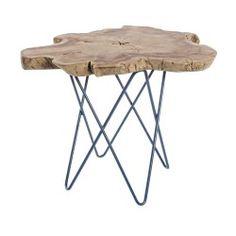Tavolino in ferro e teak Savanna - cm Petrified Wood, Home Living, Decoration, Teak, Designer, Vintage, Furniture, Home Decor, 50 50