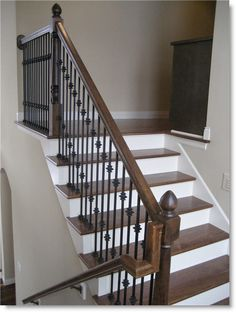 Wood Species: Brazilian Cherry (treads, stringers); African Railings are built directly on the stair to ensure the railing fits perfectly. Description from braziliancherry.blogspot.com. I searched for this on bing.com/images