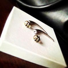 #Skull #stud #earrings. Very unique! AuthorityGirl.com