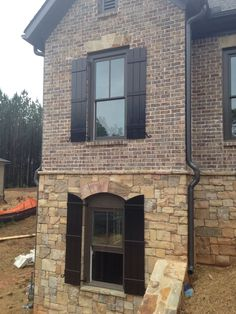 Image result for mosstown brick with shutters