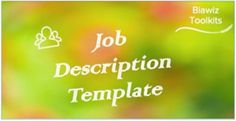 Effective Job Descriptions are a key part of your Talent Framework. Use this template to help you prepare your Job Description(s). #JobDescriptionTemplate Job Description, Product Description, Infographic, Key, Templates, Role Models, Unique Key, Keys, Template