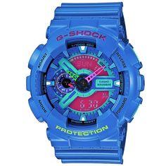 Casio G-Shock GA-110HC-2AER Hyper Complex Watch (Blue & Pink)