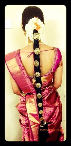 33 best ideas for wedding hairstyles indian bride hindus saree blouse Indian Wedding Hairstyles, Bride Hairstyles, South Indian Bride, Before Us, Beautiful Bride, Hair Accessories, Long Hair Styles, Hindus, Saree Blouse