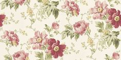 Peony Garden Cranberry (3568944) - Laura Ashley Wallpapers - A delightful take on an old fashion floral design with deep cranberry pink peony flowers in an all over pattern. Other colours available. Please  request sample for true colour match.