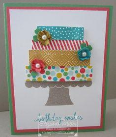 Stampin Up Build a birthday cake card  / stamp set