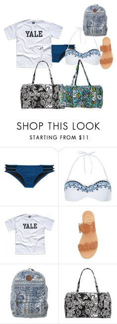 """""""Untitled #1873"""" by elephant10 ❤ liked on Polyvore featuring Victoria's Secret, Accessorize, Jack Rogers, Billabong and Vera Bradley"""