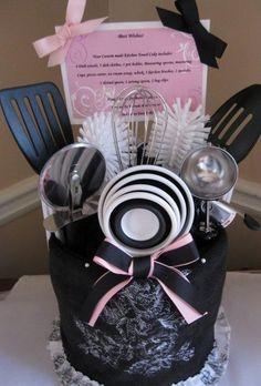 Bridal Shower Towel Cake | Wedding Ideas/Bridal Shower / Kitchen Towel Cake