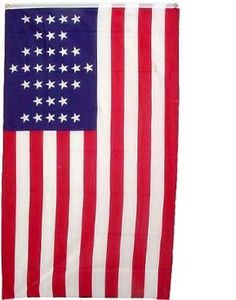 """New 3x5 Union Civil War American Flag Ft Sumter Flags by NationalCountryFlags. Save 82 Off!. $2.73. Includes 2 Brass grommets for hanging!. Brand new 3' x 5' (36"""" x 60"""") Polyester Union Civil War flag. Double sewn edges for durability. Lightweight and great for hanging inside and out doors. The Fort Sumter Flag was lowered by Major Robert Anderson on April 14 1861 when he surrendered the fort in the harbor of Charleston, South Carolina, at the outset of the American Civil War. The flag was…"""