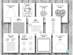 Wedding Kids Activity Book and Coloring Wedding Kids Table