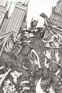 Batman by Jimbo Salgado Comic Book Artists, Comic Artist, Comic Books Art, Im Batman, Batman Art, Jim Lee Art, Batman Poster, Sketch Tattoo Design, Batman Tattoo