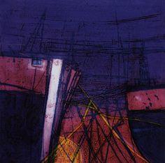 Barbara Rae, Harbour Night, 2005, Etching and collagraph, |© Barbara Rae