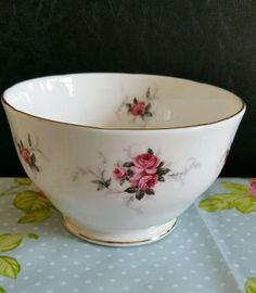 Vintage DUCHESS bone china sugar bowl pink roses. | eBay
